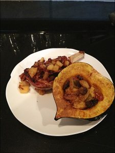 Apple Bacon Stuffed Pork Chops